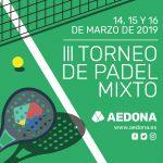 Inscripciones III Torneo de Pádel Mixto AEDONA