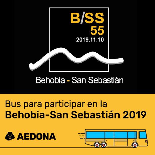 bus AEDONA Behobia San Sebastian 2019
