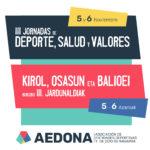 III Jornadas de Deporte, Salud y Valores [5 y 6 nov]