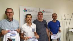 Entregamos los premios a los 3 ganadores del Reto Solidario